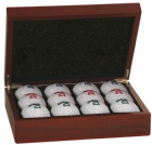 Rosewood Finish Golf Ball Case Gift Set
