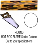 Round Hot Rod Flame Trophy Column - Cut to Length