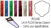 Round Lava Flow Trophy Column - Cut to Length