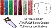 Rectangular Lava Flow Trophy Column - Cut to Length