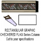 Rectangular Race Flag Column - Cut to Length