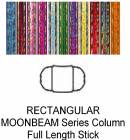 "Rectangular Moonbeam Trophy Column Full 45"" stick"