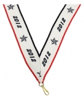 "1 1/2"" X 32"" 2012 Neck Ribbon with Snap Clip"