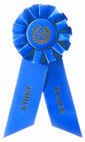 1st Place Blue Rosette Award Ribbon