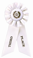 3rd Place White Rosette Award Ribbon