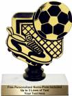 "5 1/2"" Black/Gold Soccer Trophy Kit"