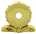 "1 9/16"" Gold Plastic Plaque Bracket"