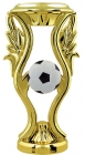 "6"" Gold with Color Soccerball Trophy Riser"