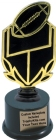 "7 1/4"" Black/Football Trophy Kit w/ Pedestal Base"