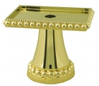 "Gold 2.5"" Rectangular Pedestal Trophy Riser"
