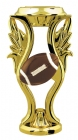 "Gold with Color 5"" Football Trophy Riser"