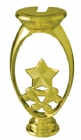 "Gold 5"" Star Trophy Riser"