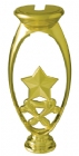 "Gold 6"" Star Trophy Riser"