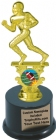 "7 1/2"" Football Motion Graphic Trophy Kit w/ Pedestal Base"