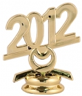 "2 1/2"" Gold Circle 2012 Year Date Trophy Trim Piece"