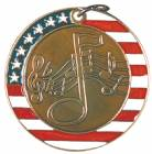 "2"" Stars & Stripes Medal - Music"