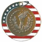 "2"" Stars & Stripes Medal - Torch"