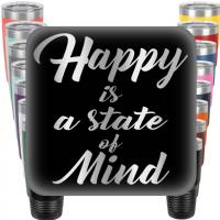 Happy is a State of Mind Engraved Tumbler