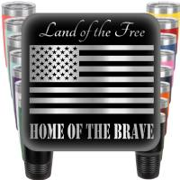 Land of the Free - Home of the Brave Engraved Tumbler