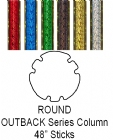 "Round Outback Trophy Column Full 45"" stick"